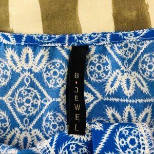 B Jewel Tops - 🔥5/25 sale🔥 B jewel button front peplum top